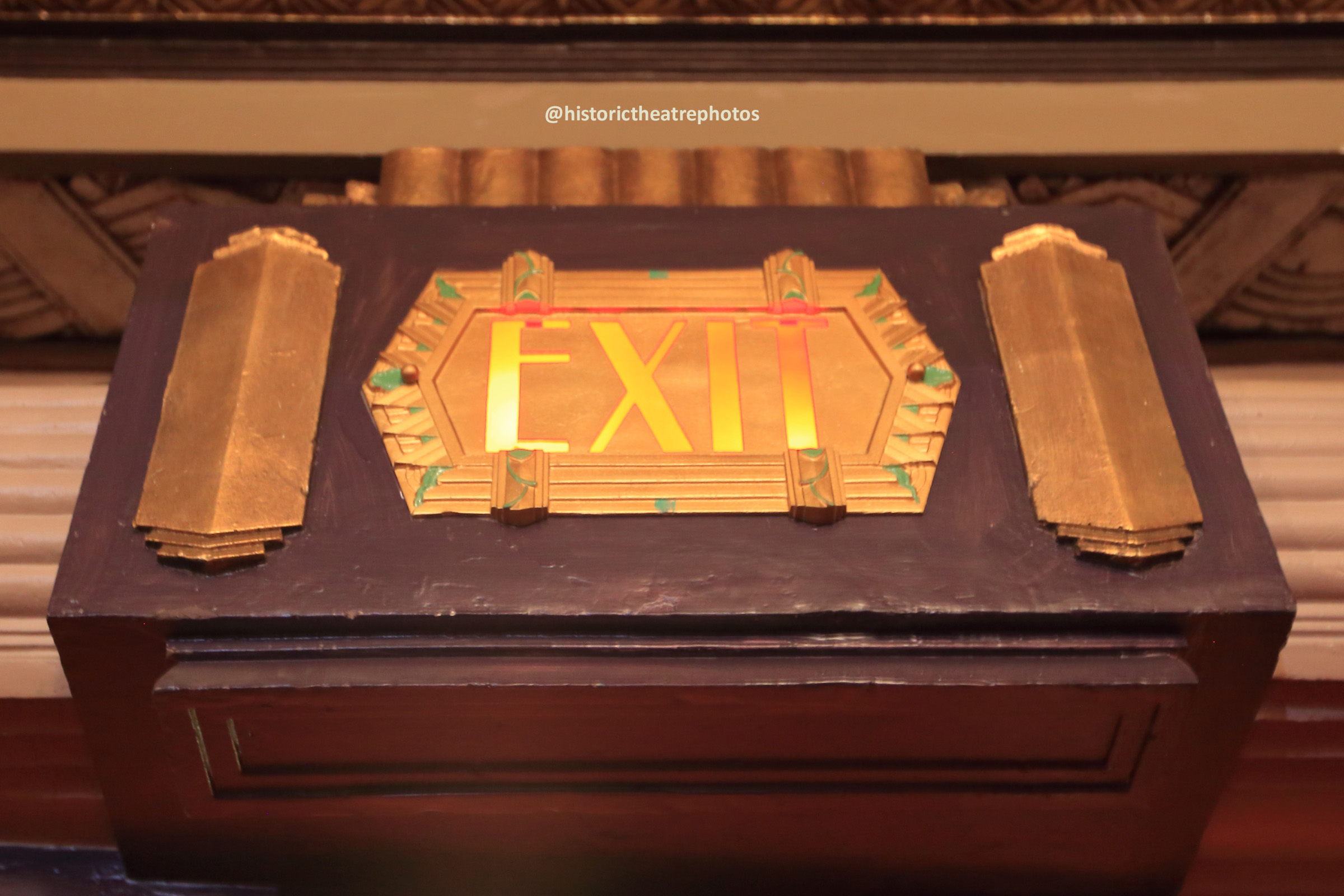 Pantages Theatre, Hollywood: Exit Sign detail