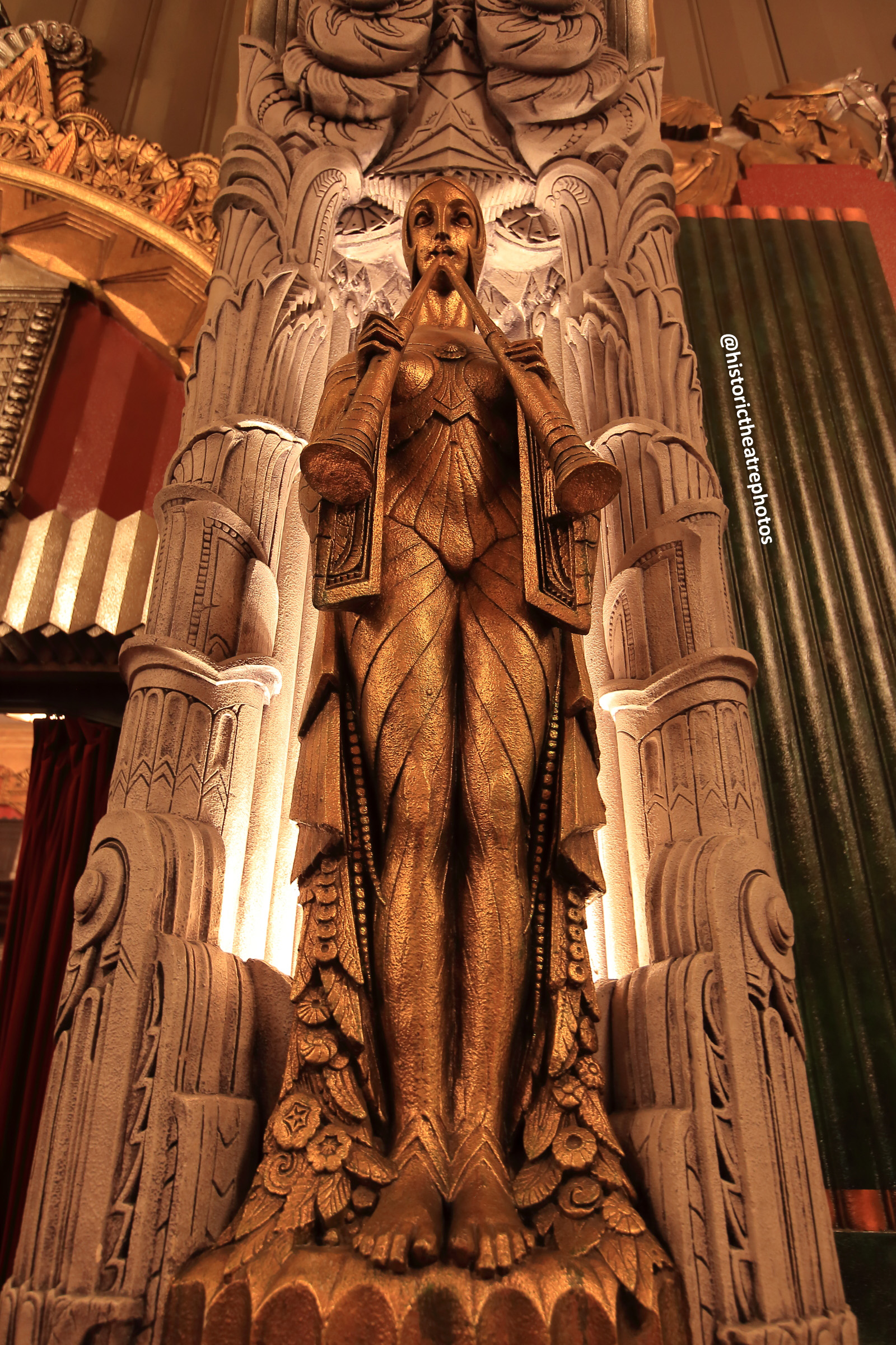 Pantages Theatre, Hollywood: Art Deco Figure