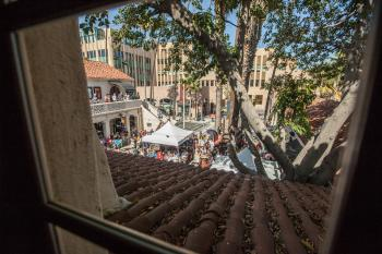 Pasadena Playhouse: View to Courtyard from Library