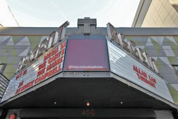 Regent Theater, Los Angeles: Marquee from center