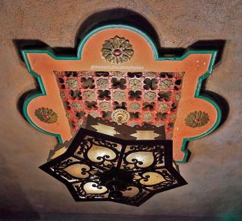 Rialto Theatre, South Pasadena: Balcony Soffit Light Fixture closeup