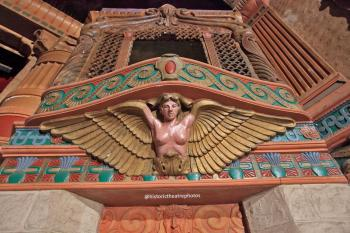 Rialto Theatre, South Pasadena: Harpy supporting Organ Grille