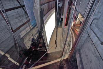 Rialto Theatre, South Pasadena: Stage from Fly Floor