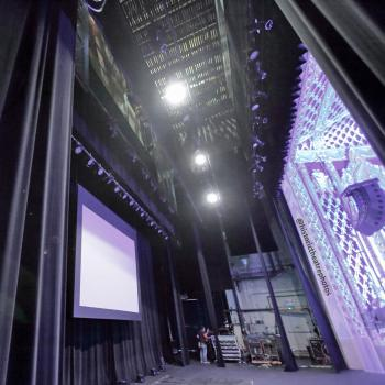 Saban Theatre, Beverly Hills: Looking onstage from Stage Right wing
