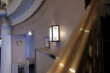 Saban Theatre, Beverly Hills: Lobby wall from staircase