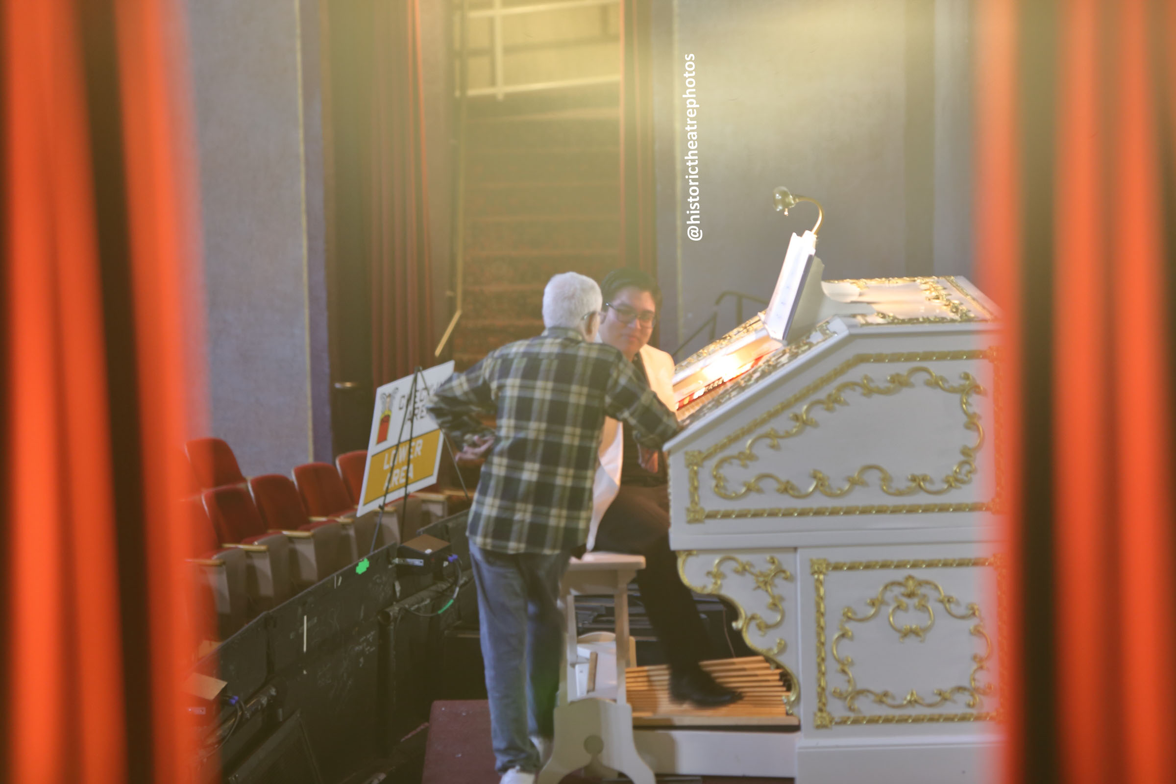 San Gabriel Mission Playhouse: Wurlitzer Pipe Organ from House Right