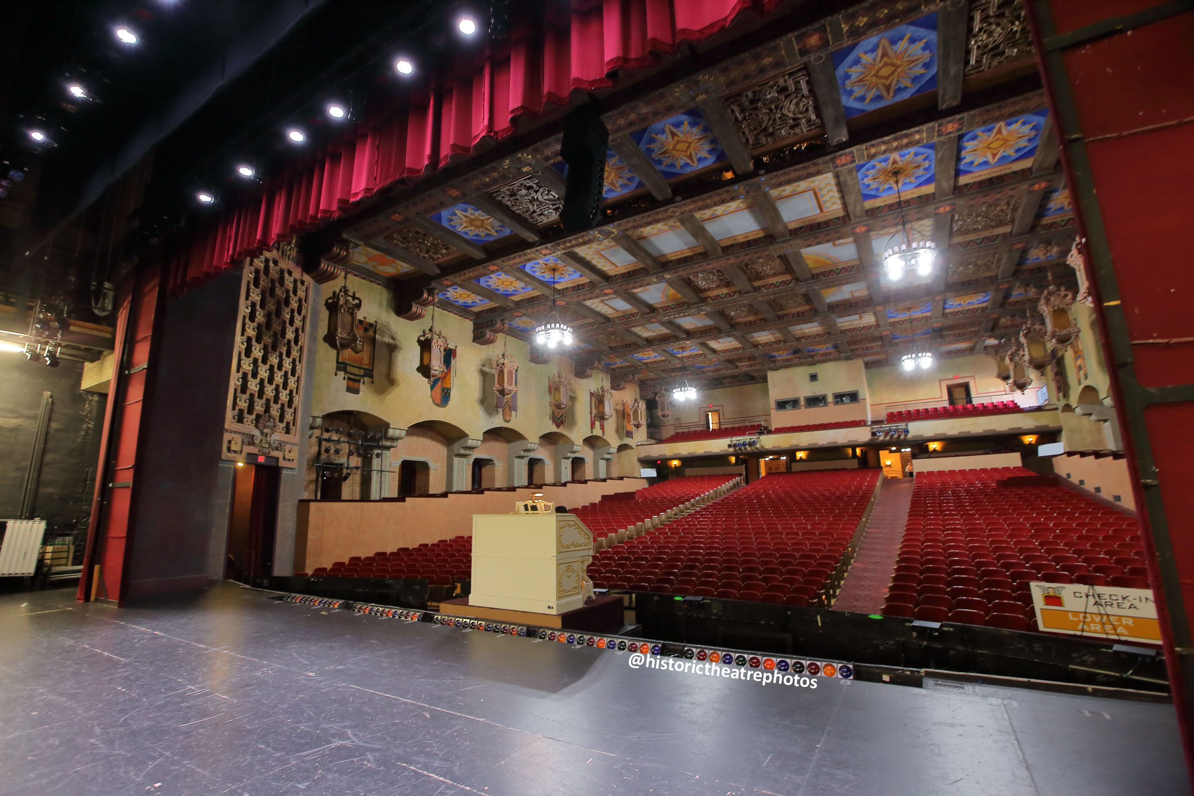 San Gabriel Mission Playhouse: Auditorium from Stage Right
