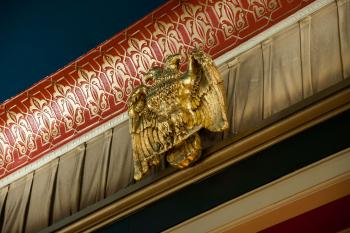 Austin Scottish Rite Theater: Masonic two-headed Eagle above Proscenium