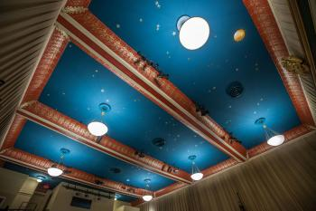 Austin Scottish Rite Theater: Star constellations on Auditorium ceiling