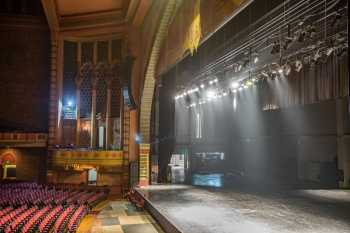 Shrine Auditorium, University Park: Empty Stage from House Right Box