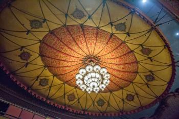 Shrine Auditorium, University Park: Circus Tent ceiling and Chandelier closeup