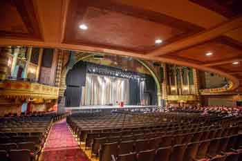 Shrine Auditorium, University Park: Stage Presentation from Orchestra cross-aisle