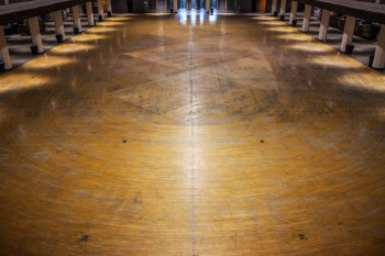 Shrine Auditorium, University Park: Dance floor detail