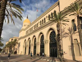 Shrine Auditorium, University Park: Royal St facade