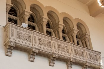 Shrine Auditorium, University Park: Balcony Lobby windows to Vestibule