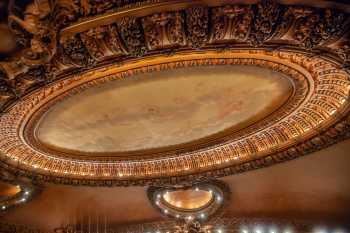 Spreckels Theatre, San Diego: Ceiling mural from House Right