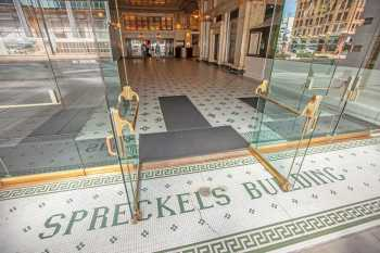 Spreckels Theater, San Diego: Entrance and Terrazzo