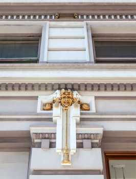 Spreckels Theater, San Diego: Exterior decoration closeup