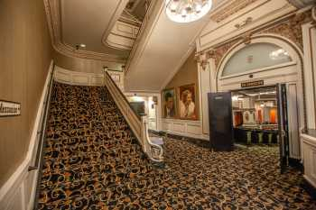 Spreckels Theatre, San Diego: Mezzanine Stairs and Orchestra entrance House Left
