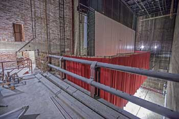 State Theatre, Los Angeles: Stage Left Pin Rail