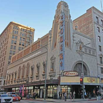The Tower Theatre in Los Angeles, designed for H.L. Gumbiner in 1927 by S. Charles Lee