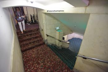 Tower Theatre, Los Angeles: Stairs down to Basement Lounge