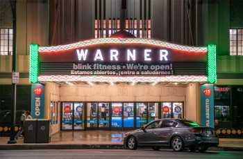Warner Theatre, Huntington Park: Marquee at Night