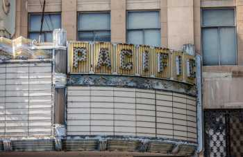 Hollywood Warner Theatre: Marquee Closeup Right