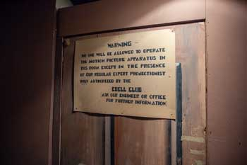 Wilshire Ebell Theatre: Historic Sign on Door