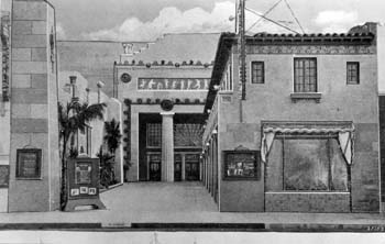 Theatre entrance in 1925, courtesy National Register of Historic Places (JPG)