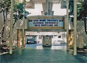 Forecourt prior to the start of the 1992/3 major renovation, courtesy Alex Theatre / Glendale Arts (JPG)