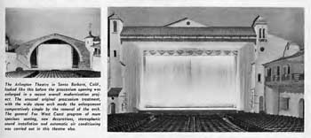 Review of the works to convert the theatre to widescreen, showing before and after photos, as published in the 6th April 1959 edition of <i>BoxOffice</i> (230 KB PDF)