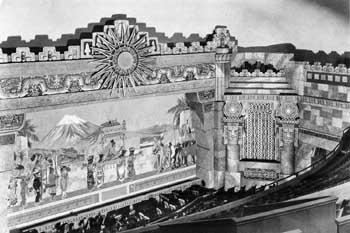 1929 view of the stage and painted fire curtain courtesy <i>San Antonio Express-News</i> (JPG)