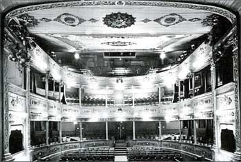 Auditorium circa 1970 showing central aisle through what was, at one time, the Royal Box in the center of the Dress Circle (JPG)