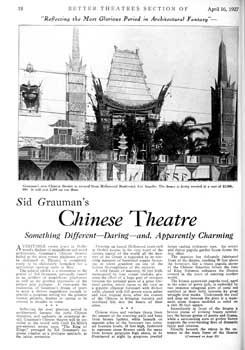 3-page preview of the theatre as featured in the 16th April 1927 edition of <i>Exhibitors Herald</i> (2.7MB PDF)