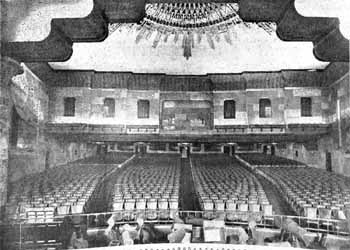 Auditorium from the stage in 1922 (JPG)