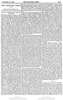 Report of the fire at Her Majesty's Theatre in 1867, as printed in 13th December 1867 edition of <i>The Building News and Engineering Journal</i> (1.5MB PDF)