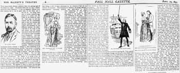 Review of opening night, as printed in the 29th April 1897 edition of <i>The Pall Mall Gazette</i> (1.3MB PDF)