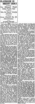 Review of the theatre's opening as printed in the 26th January 1927 edition of the <i>Los Angeles Times</i> (180KB PDF)