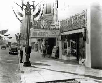 "The theatre re-branded as the El Capitan in 1947, during the seven year run of Ken Murray's ""Blackouts"" variety shows which ran from 1942 to 1949 (JPG)"