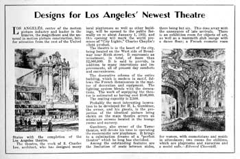 "Half-page feature in ""Exhibitors Herald-World"" (20 December 1930), held by the Library of Congress and scanned online by the Internet Archive (300KB PDF)"