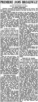 Review of the theatre's opening as printed in the 2nd February 1931 edition of the <i>Los Angeles Times</i> (660KB PDF)