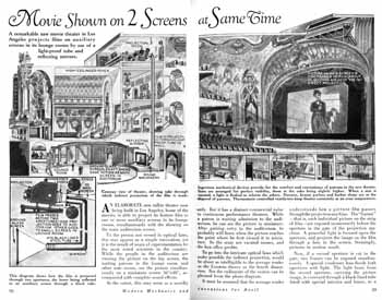 Article about the modern innovations at the theatre from the April 1931 edition of <i>Modern Mechanics and Inventions</i> (2MB PDF)