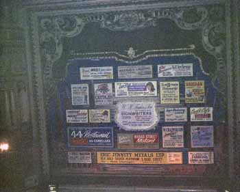 The theatre's advertising curtain (probably the safety/fire curtain) as seen in 1969 (JPG)