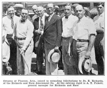 Photo of the ground-breaking ceremony for the new theatre, from the 8th July 1927 edition of <i>Motion Picture News</i>, held by the Museum of Modern Art in New York and digitized by the Internet Archive (JPG)