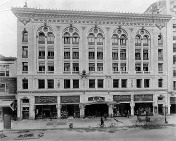 Exterior prior to opening in 1911, courtesy Los Angeles Public Library (JPG)