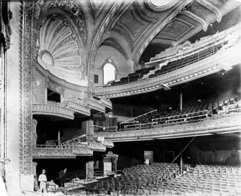 Construction nearing completion at the theatre in 1911, courtesy Los  Angeles Public Library (JPG)
