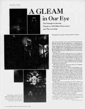 Review of the renovated theatre as printed in the 8th October 2000 edition of the <i>Los Angeles Times</i> (540KB PDF)