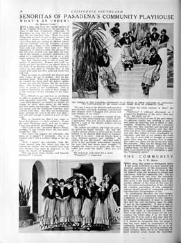 """California Southland"" (August 1925) focusing on role played by the ushers at the theatre; held by the California State Library and scanned online by the Internet Archive (2 pages; 1.2MB PDF)"