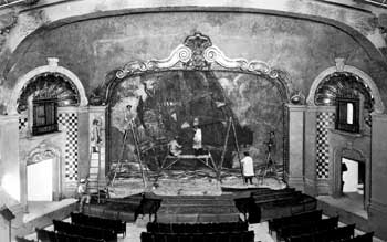 Painting of the theatre's Fire Curtain in 1925 (JPG)